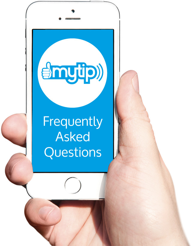 mytip app faq phone and hand